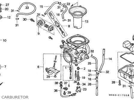 Honda Nx650 Dominator 1988 England / Mkh parts list