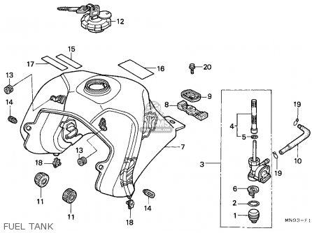Honda Nx650 Dominator 1988 (j) Belgium parts list
