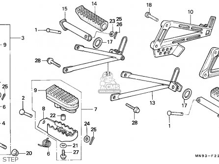 Honda NX650 DOMINATOR 1988 (J) BELGIUM parts lists and