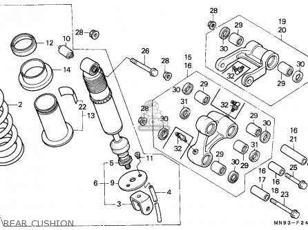 Honda Nx650 Dominator 1988 (j) England / Mkh parts list