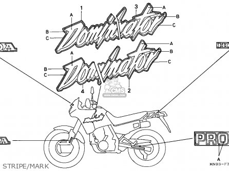 Honda NX650 DOMINATOR 1988 (J) FRANCE / YB parts lists and