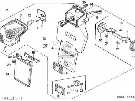 Honda Nx650 Dominator 1988 (j) France / Yb parts list