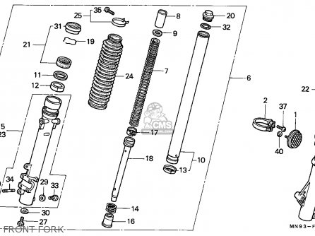 Honda NX650 DOMINATOR 1988 (J) SPAIN parts lists and