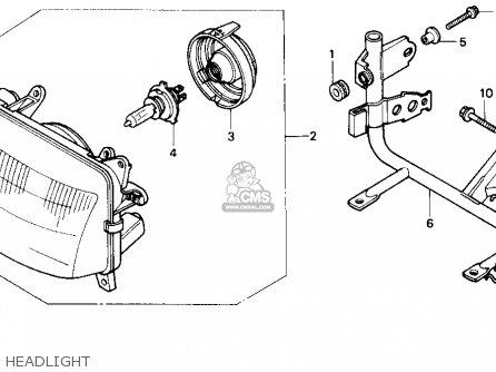 Honda NX650 DOMINATOR 1988 (J) USA parts lists and schematics