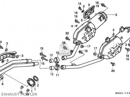 Honda NX650 DOMINATOR 1989 (K) BELGIUM parts lists and