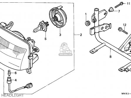 Honda Nx650 Dominator 1990 Italy parts list partsmanual