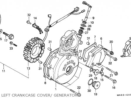Honda NX650 DOMINATOR 1990 (L) GERMANY / 27P parts lists