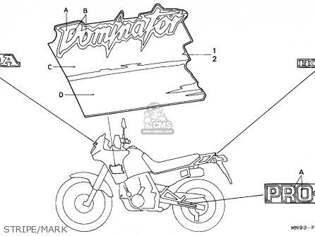 Honda NX650 DOMINATOR 1990 (L) ITALY parts lists and
