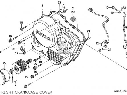Honda NX650 DOMINATOR 1990 (L) SWEDEN parts lists and