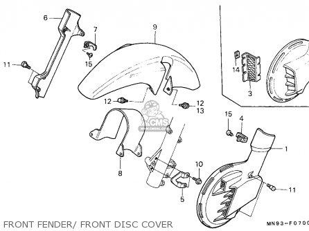 Honda NX650 DOMINATOR 1991 (M) EUROPEAN DIRECT SALES parts