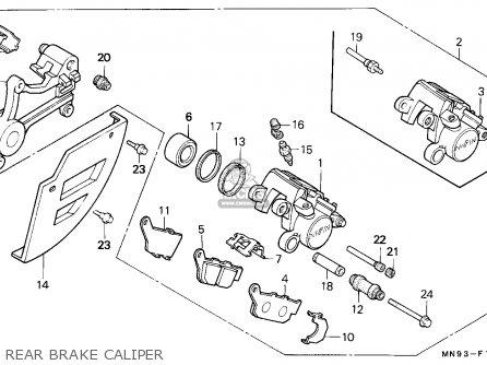 Honda Nx650 Dominator 1991 (m) France / Yb parts list