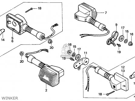 Honda NX650 DOMINATOR 1991 (M) FRANCE / YB parts lists and