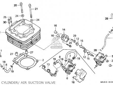 Honda Nx650 Dominator 1991 (m) Germany parts list
