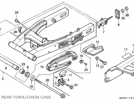 Honda NX650 DOMINATOR 1991 (M) SWEDEN parts lists and