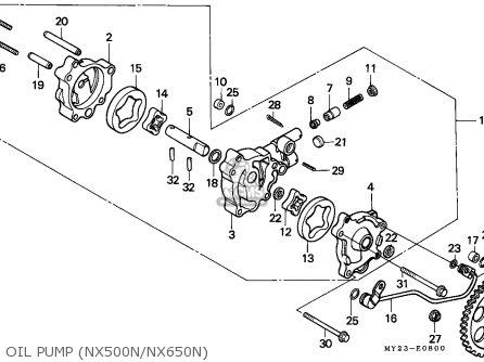 Honda NX650 DOMINATOR 1992 (N) SWITZERLAND / MKH parts
