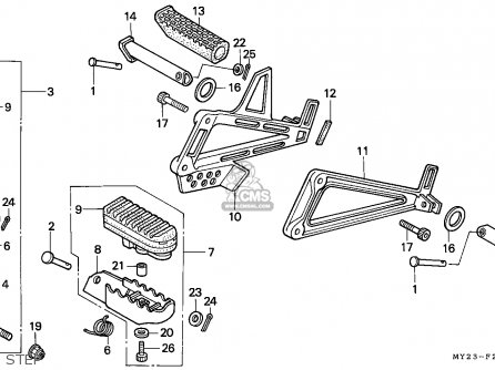 Honda NX650 DOMINATOR 1993 (P) ENGLAND / KPH parts lists