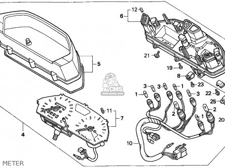 Honda NX650 DOMINATOR 1993 (P) EUROPEAN DIRECT SALES / MKH