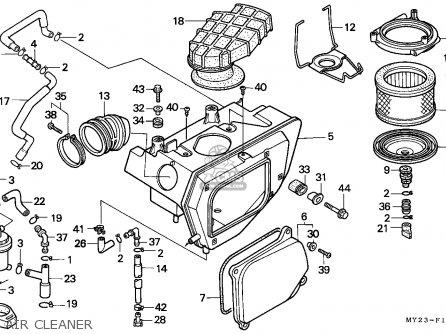 Honda Nx650 Dominator 1994 Australia / Kph parts list