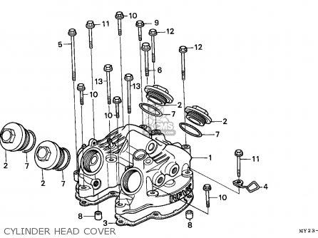 Honda Nx650 Dominator 1994 (r) England / Kph parts list