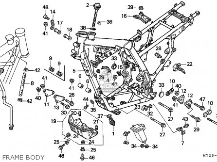 Honda NX650 DOMINATOR 1994 (R) GERMANY / MKH parts lists