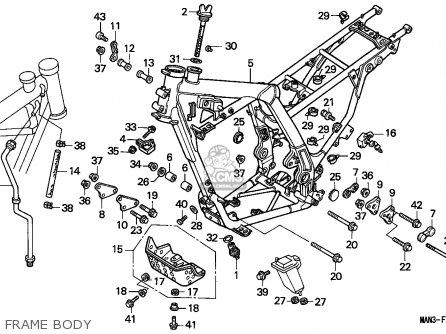 Honda Nx650 Dominator 1995 European Direct Sales parts