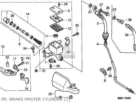 Honda NX650 DOMINATOR 1995 (S) EUROPEAN DIRECT SALES parts
