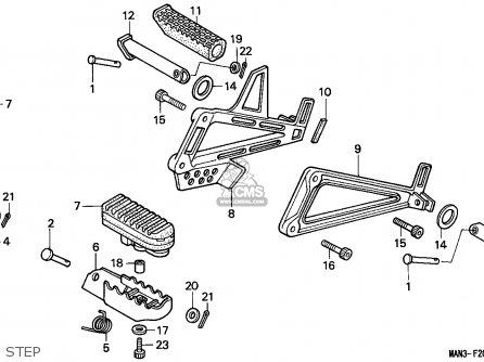 Honda NX650 DOMINATOR 1995 (S) SWITZERLAND parts lists and