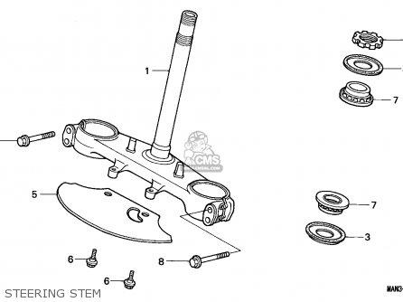 Honda NX650 DOMINATOR 1996 (T) AUSTRALIA parts lists and