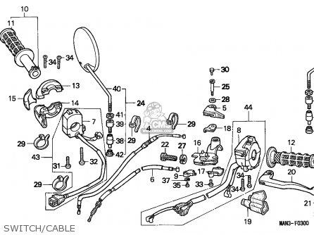 Honda NX650 DOMINATOR 1996 (T) ENGLAND parts lists and