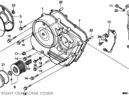 Honda Nx650 Dominator 1996 (t) Germany / 25p parts list