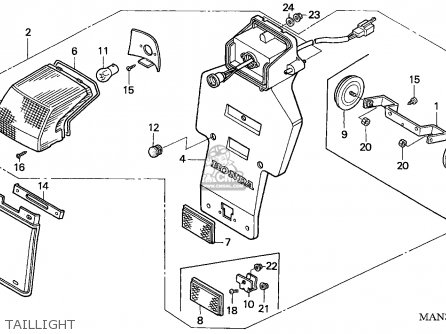 Honda NX650 DOMINATOR 1997 (V) ENGLAND parts lists and