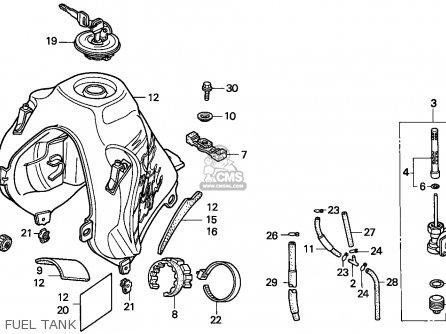 Honda NX650 DOMINATOR 1998 (W) FRANCE / CMF parts lists