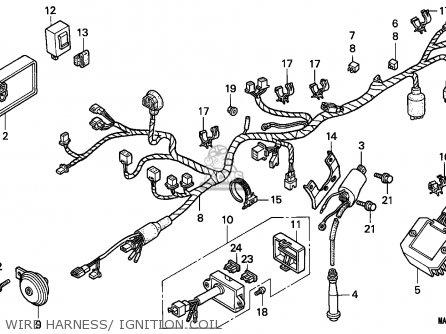 Honda Nx650 Dominator 1998 (w) Italy parts list