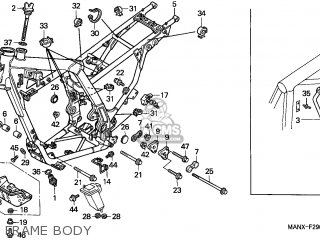 Honda NX650 DOMINATOR 1999 (X) ITALY parts lists and