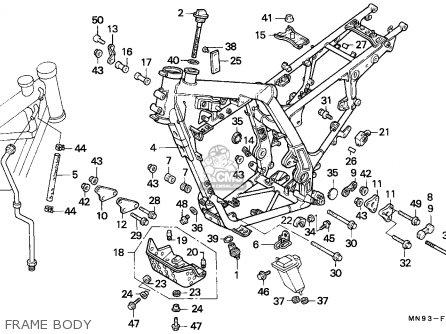Honda Nx6502 Dominator 1990 European Direct Sales parts