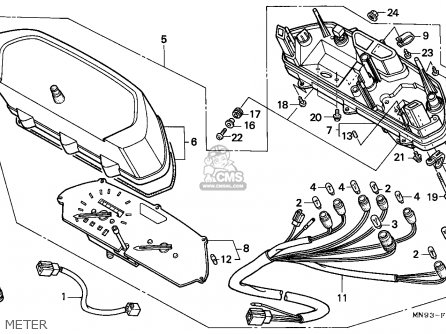 Honda NX6502 DOMINATOR 1990 (L) ENGLAND MKH parts lists