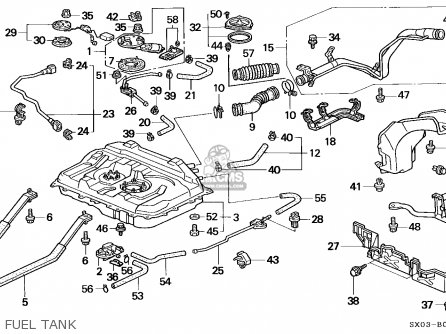 Honda Odyssey 1995 5dr Ex (ka) parts list partsmanual