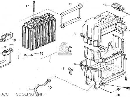 Honda Odyssey 1995 (s) 5dr Ex (ka) parts list partsmanual