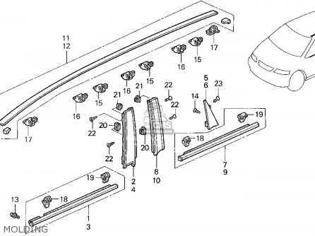 Honda ODYSSEY 1995 (S) 5DR EX (KA) parts lists and schematics