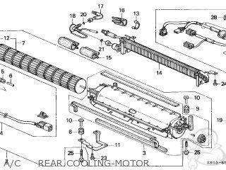 Honda Odyssey 1998 5dr Ex (ka) parts list partsmanual