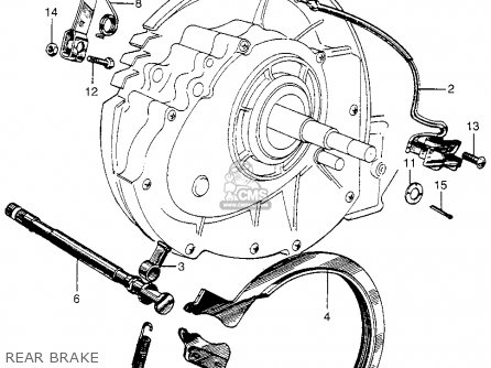 Honda P50 Little Honda 1967 Usa parts list partsmanual