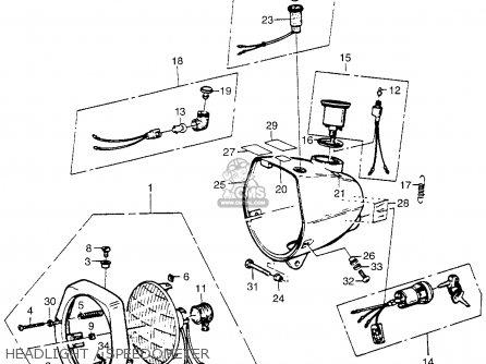 Honda Pa50i Hobbit 1979 (z) Usa / 20 Mph parts list