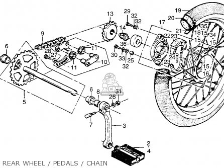 Honda PA50I HOBBIT 1979 (Z) USA / 20 MPH parts lists and