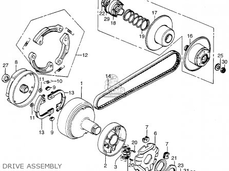 Honda Pa50ii Hobbit 1979 (z) Usa / 30 Mph parts list