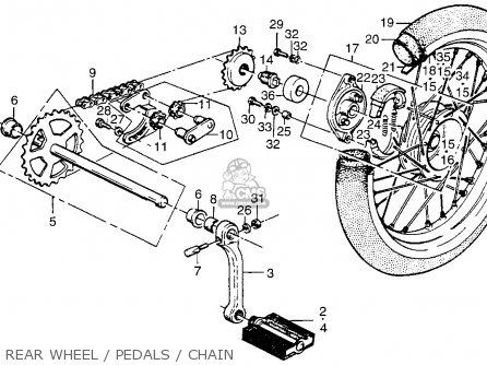 Honda PA50II HOBBIT 1981 (B) USA / 30 MPH parts lists and