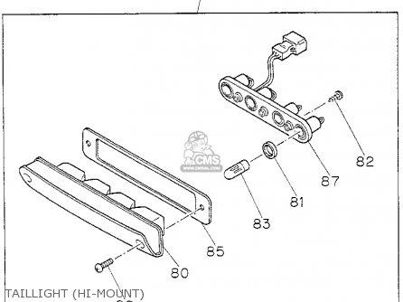 Honda PASSPORT 1995 (S) 4DR DX 4X2 4CYL (KA,KL) parts