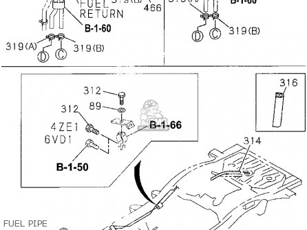 Honda PASSPORT 1995 (S) 4DR EX-W 4X4 V6 (KA,KL) parts