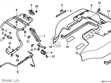 Honda PC800 PACIFIC COAST 1989 (K) CANADA parts lists and