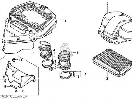 Honda Pc800 Pacific Coast 1989 Usa parts list partsmanual