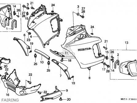 Honda Pc800 Pacific Coast 1990 Canada parts list